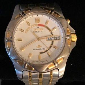 Seiko Kinetic Men's Sport 50 Wrist Watch